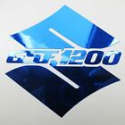 S GSF 1200 Cromo Azul Cromo pegatinas a medida Gráficos 70mm x 70mm