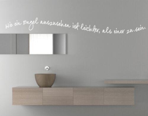 Wandtattoo Bad Badezimmer Wie ein Engel Wandaufkleber Sprüche Wohnzimmer wal079