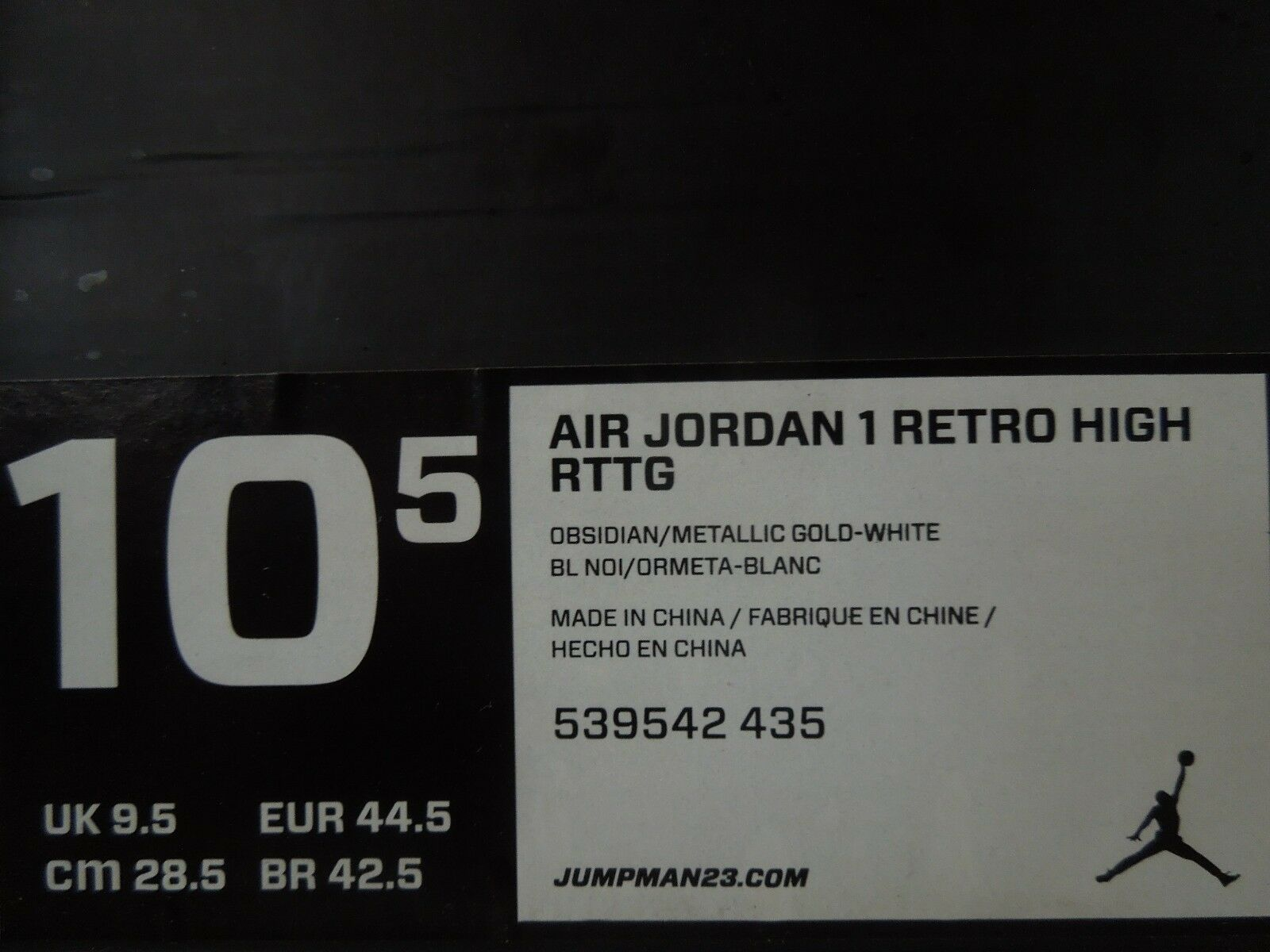 NIKE JORDAN 1 RETRO Alta DC AIR AIR DC RTTG LAS VEGAS camino de oro [539542-435] ad0894