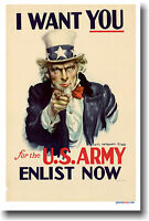 I Want You U.s. Army - Enlist Now - Vintage Poster