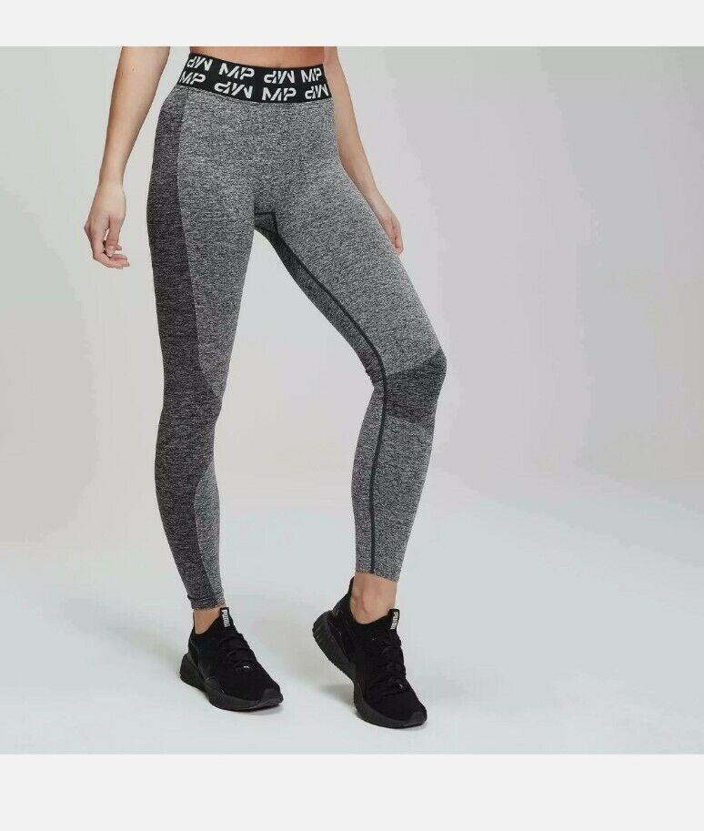 MyProtein Curve Leggings Size L 12-14 Womens Grey Gym Seamless