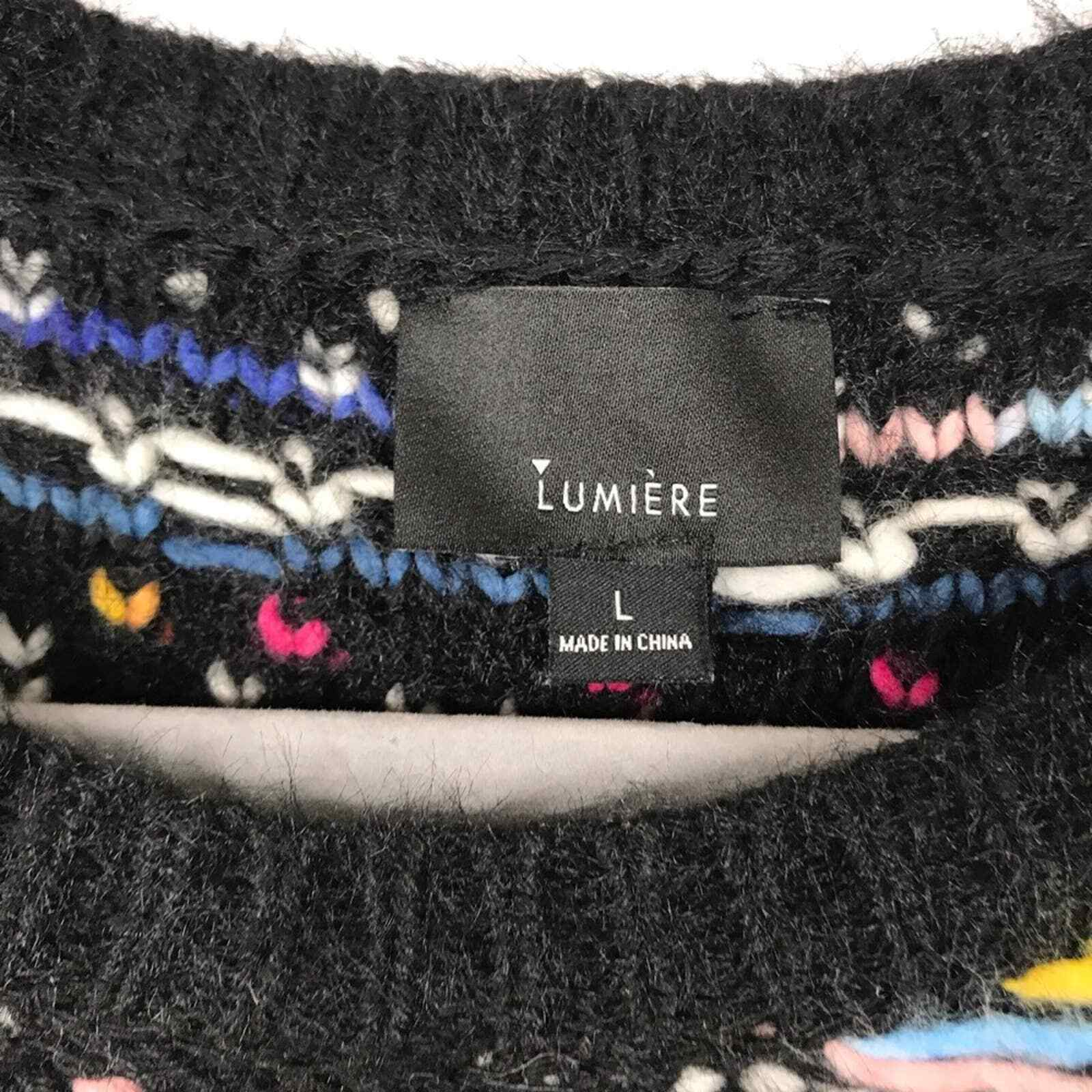 Lumiere multicolored textured knit sweater - image 8