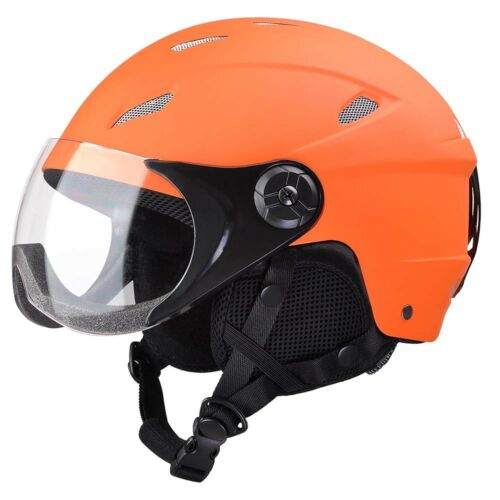 Adult Snow Sports Helmet ASTM Certified for Ski Skate Board Protective Orange XL