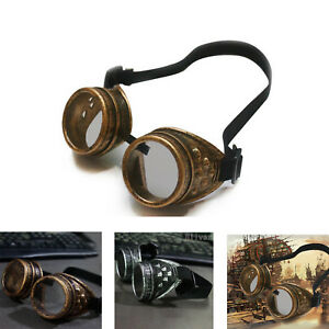 e139c4829f Image is loading Vintage-Steam-Punk-Cyber-Goggles-Steampunk-Glasses-Vintage-