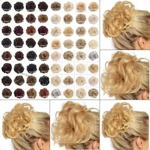 Koko-Synthetic-Hair-Scrunchie-Curly-amp-Wavy-Messy-Bun-Updo-Hairpiece-Wrap-Unboxed
