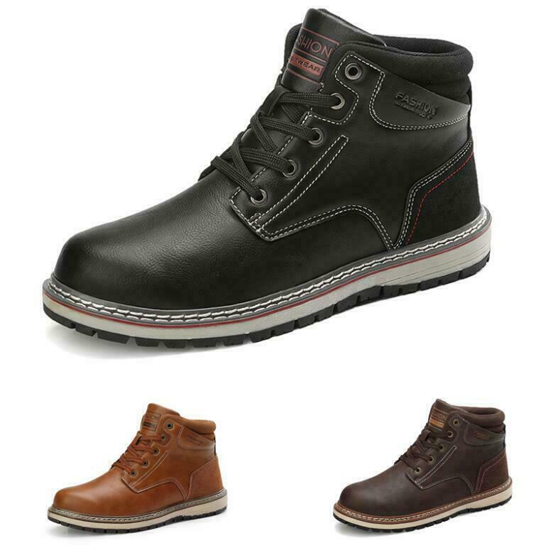 Mens Outdoor Hiking High Top Sneakers Shoes Waterproof Non-slip Climbing Sport
