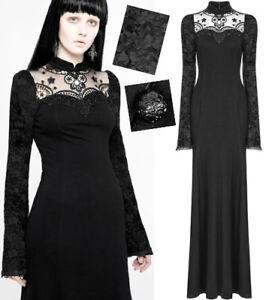 Robe Longue Soiree Gothique Lolita Victorien Baroque Dentelle Broderie Punkrave Ebay