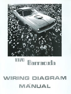 1970 70 barracuda cuda wiring diagram manual ebay. Black Bedroom Furniture Sets. Home Design Ideas