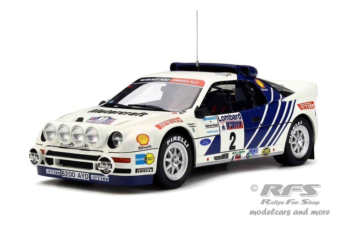 Ford rs 200 RAC Rally 1986 blomqvist Berglund 1 18 Otto Mobile ot 679 nuevo