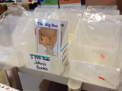 Plastic Book Bins -set Of 24