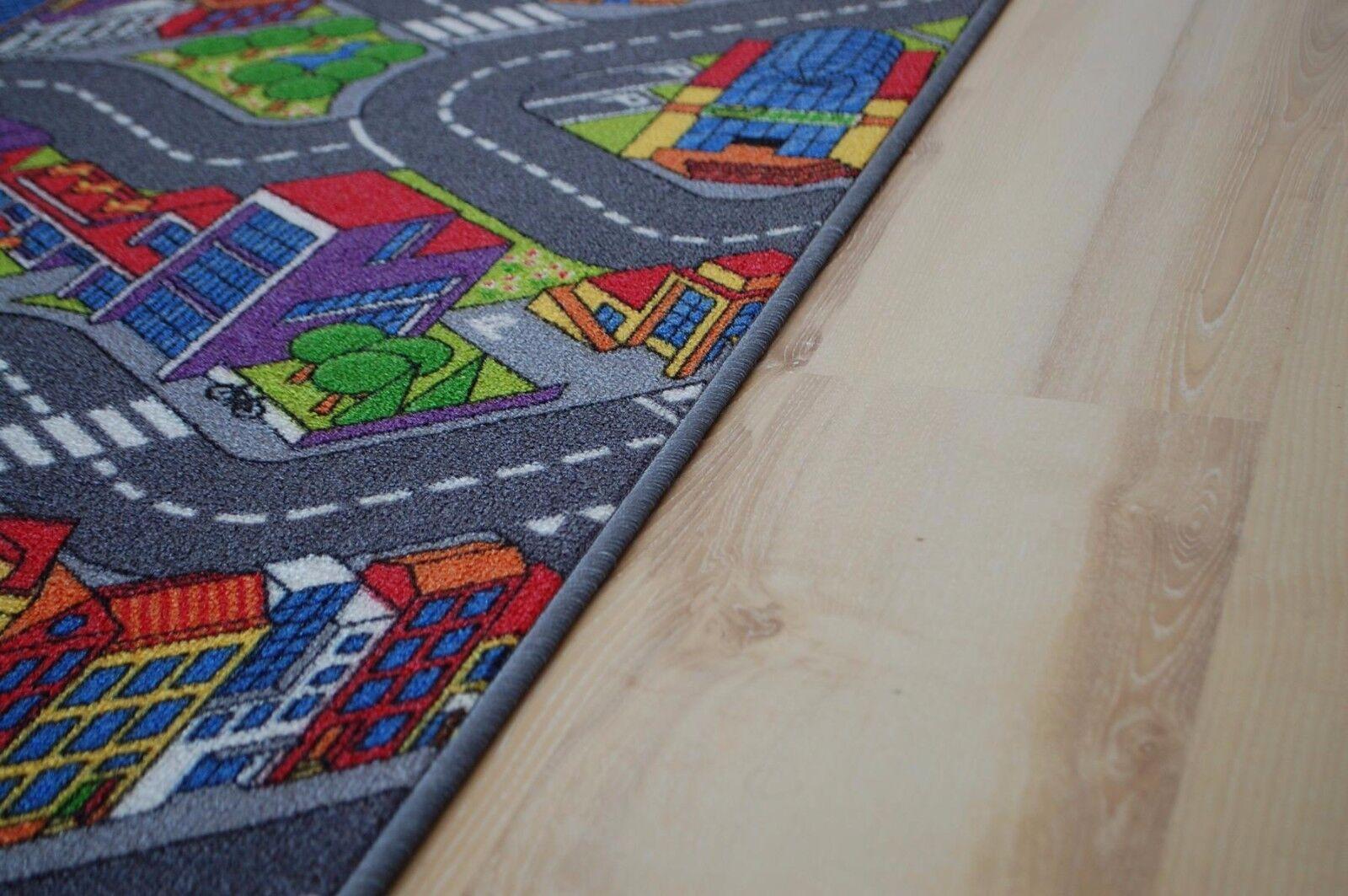 Tappeto stradale stradale stradale BAMBINI GIOCO Citylight 200x380 cm bc17a0