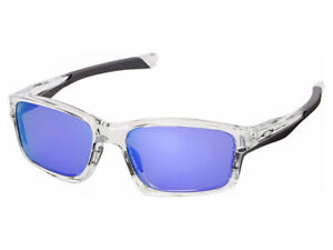 Oakley-Chainlink-Sunglasses-OO9252-05-Polished-Clear-Violet-Iridium-Asian