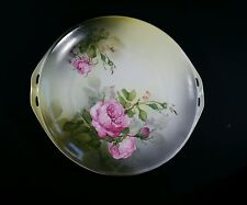 """Vintage RS Germany, Cake Plate with Roses, 11"""""""