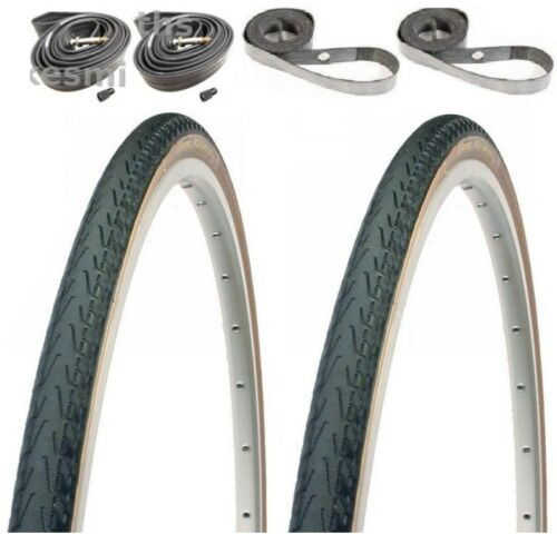 "Panaracer Pasela PROTITE 27x1/""//1-1//8/""// 1-1//4/""+PRESTA Tubes Strips Skin Tire Kit"