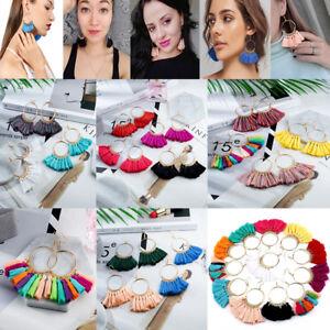 Vintage-Women-Bohemian-Earrings-Long-Tassel-Fringe-Boho-Dangle-Earrings-Jewelry