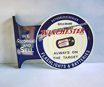 "1947 WINCHESTER 242 flashlight battery Man Cave HI-POWER Metal Sign 6x12/"" A383"