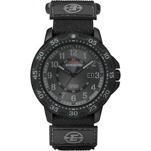 Timex Expedition Men's   Rugged Resin Black Fast Wrap Nylon Strap Watch T49997