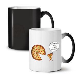 Pizza Slice On Diet Funny NEW Colour Changing Tea Coffee Mug 11 oz | Wellcoda