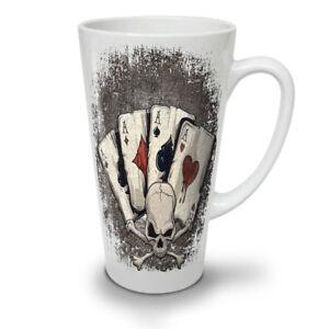 Poker Card Gamble Skull NEW White Tea Coffee Latte Mug 12 17 oz | Wellcoda