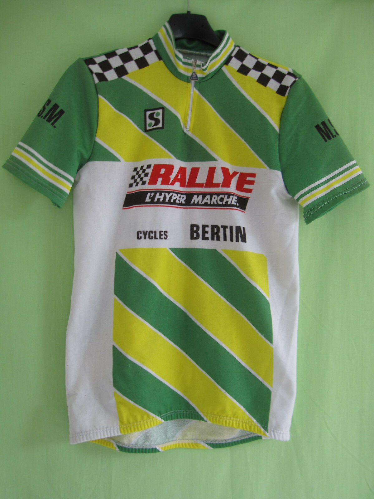 Maillot cycliste RALLYE Cycles Bertin MSM Sibille Jersey Vintage - S