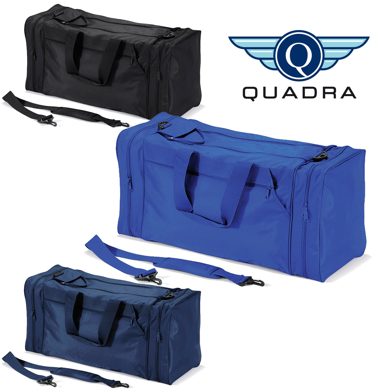 Quadra Extra Large 74 Litre Gym Sports Team Training Durable Adjustable Kit Bag