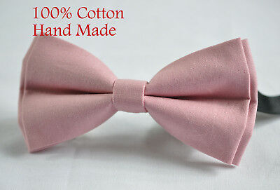 Father Son Men Boy Match Dusky Dusty Rose Pink Blush Pink Cotton  Bow Tie Bowtie