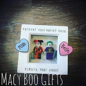 Harley Quinn Joker Lego Frame Valentines Gift Present Girlfriend