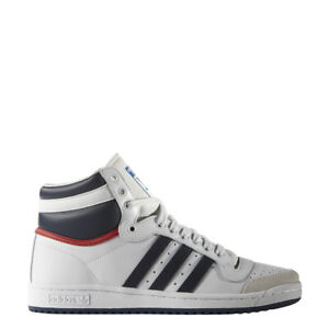 New-Adidas-Men-039-s-Originals-Top-Ten-High-OG-Shoes-D65161-White-Navy-Red