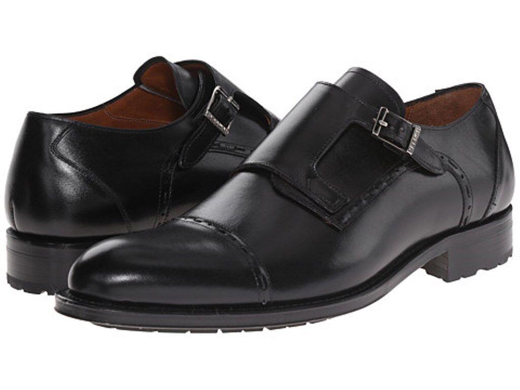 alto sconto Mezlan nero Leather Leather Leather Monkstrap Uomo scarpe Dimensione 10.5  supporto al dettaglio all'ingrosso