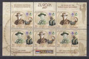 Europa-Cept-2007-Serbia-booklet-pane-mnh-A1451
