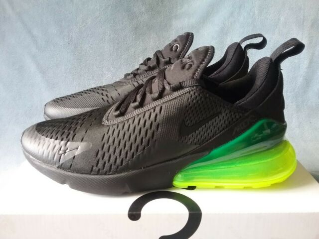 49814c0e5f Nike Air Max 270 Neon Green Black Volt Men Running Shoes SNEAKERS ...