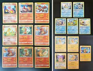 Pokemon PIKACHU CHARMANDER SQUIRTLE Lotto Evolutions Starter Kanto NM Destino