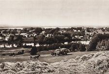 1925 Original CANADA Farm Agriculture Horses Knowiton Quebec Landscape Photo Art
