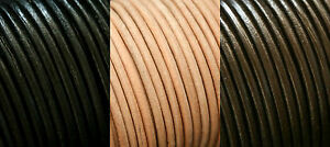 100% REAL LEATHER ROUND 5MM THONG THONGING NECKLACE JEWELLERY CORD