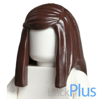 LEGO Minifigure Hair DARK BROWN 92083 Female Girl Long Straight with Side Part