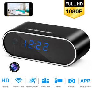 FULL-HD-1080P-Wifi-IP-Spy-Hidden-Security-Camera-Motion-Clock-IR-Night-Vision