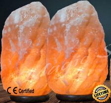 2 x 3-5 kg HIMALAYAN PINK SALT ROCK CRYSTAL LAMP NATURAL HEALING IONIZING LAMPS