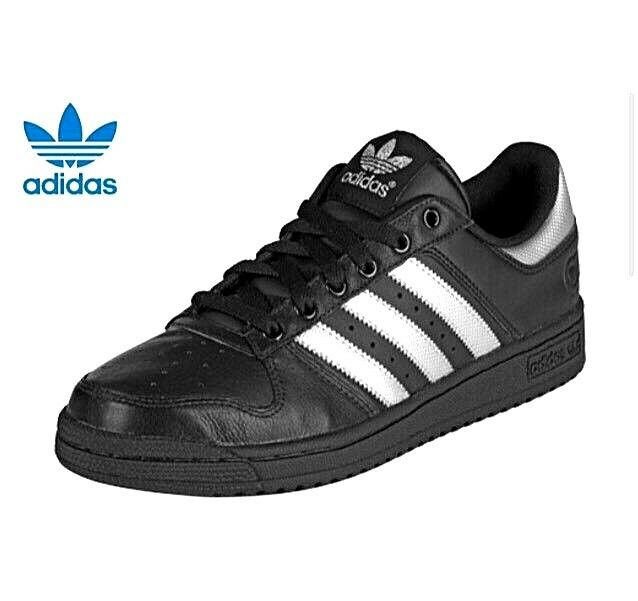 Transitorio Disfraces Alarmante  Womens adidas Originals Pro CONF 2 Leather Trainers Black / Silver Size UK  6 for sale online   eBay