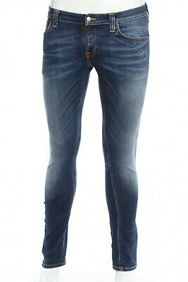 * Nudie Jeans * The Naked Ftuft About Denim, Uomo, Blu, Dimensioni: W29l32 Nuovo-mostra Il Titolo Originale