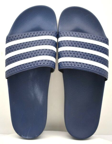 7ef5154a4 Adidas Adilette Slide 288022 Navy   White US Size 12 - FREE SHIPPING -  BRAND NEW