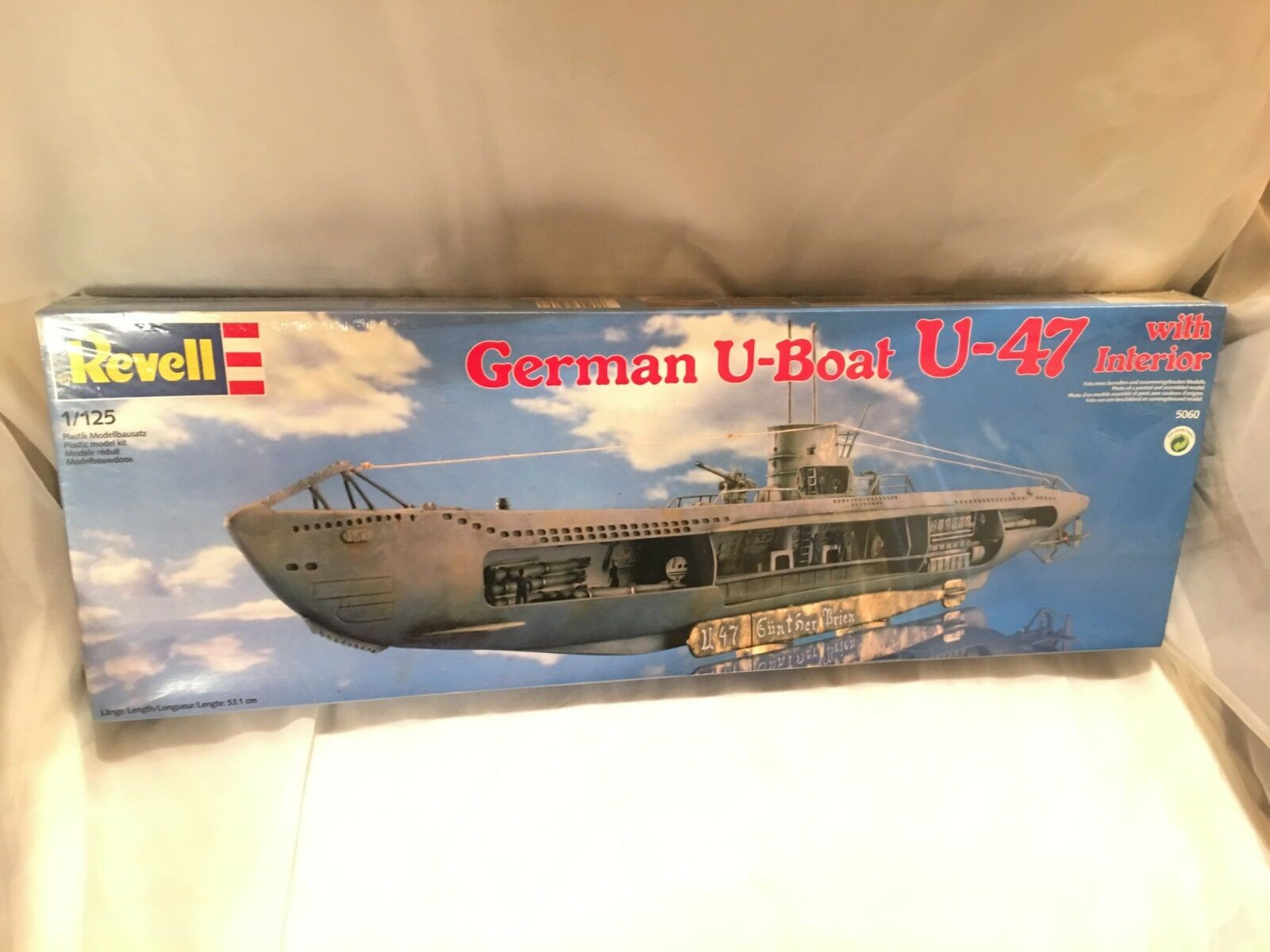 GERMAN U-BOAT-47''NEW,SEALED,MINT,''OWN PART WAR  HISTORY,CLASSIC  SUB