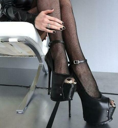 Details about  /Women Sandals Platform Peep Toe Stilettos High Heels Peep Toe Suede Stage Shoes