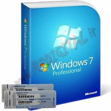 WINDOWS 7 PROFESSIONAL SP1 DVD ADESIVO PRO SEVEN 32 64 B MICROSOFT ORIGINALE COA