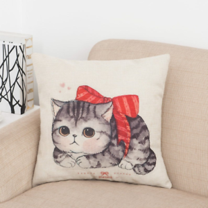 Kittens Animation Cute Animals Cat Mom Kitty Lover Girls Gift Square Pillow
