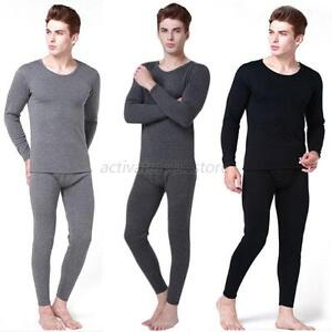 Men 2Pcs Cotton Thermal Underwear Set Winter Warm Thicken Long ...