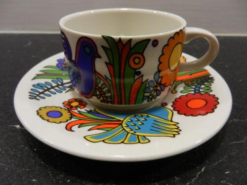 Villeroy /& Boch kleine Kaffeetasse mit Untertasse ACAPULCO Vitro-Porzellan 60er