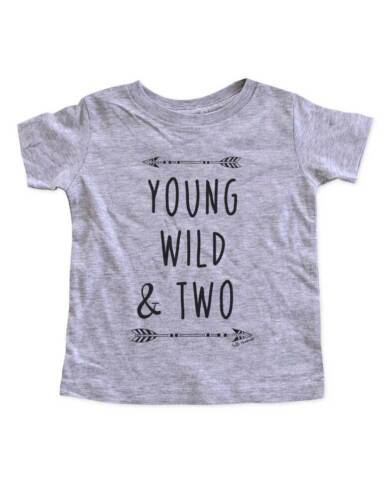 Young Wild /& Two bohemian boho design Second 2nd Birthday Toddler Soft Shirt