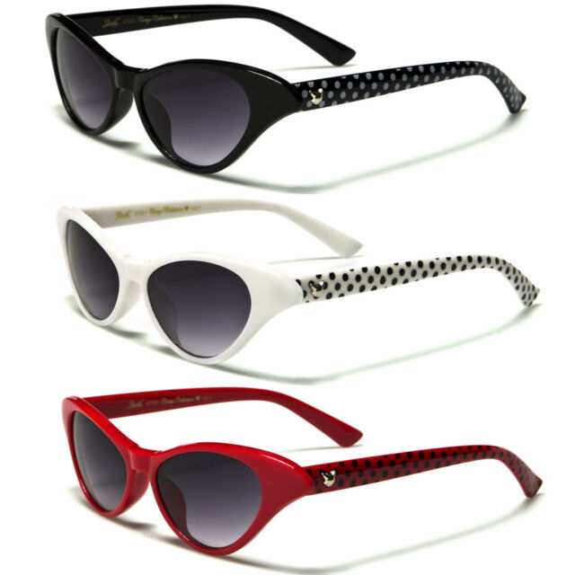 Red Vintage Cat Eye Very Sexy Polka Dot Black And White
