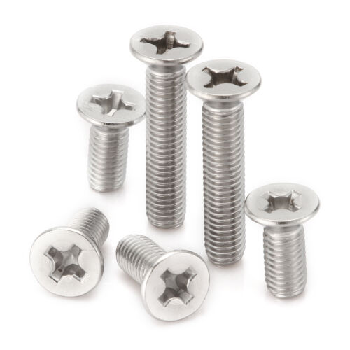 6-100mm Phillips Recessed Countersunk Flat Head Screws Bolts Set 5mm Details about  /M5