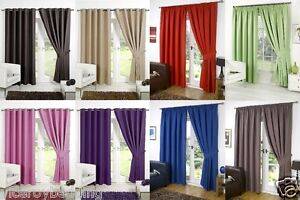 blackout bedroom curtains. Image is loading THERMAL BLACKOUT CURTAINS Eyelet Ring Top OR Pencil  Pleat FREE Tie